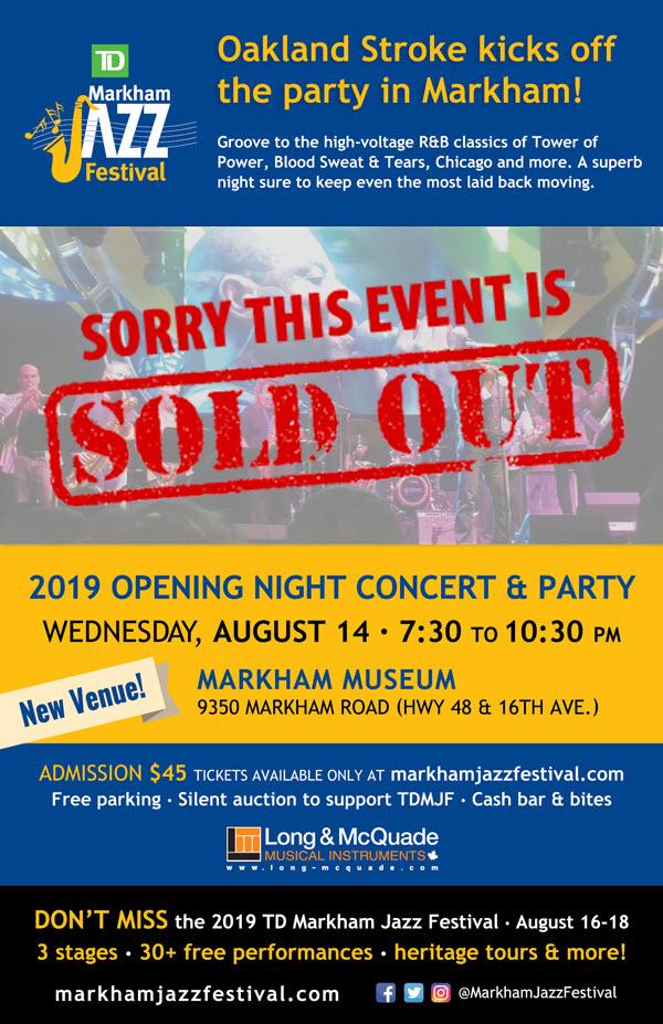 Markham Jazz Festival – August 14 to 16, 2020